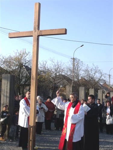Blessing of Cross in Mukachevo's Barakktelep