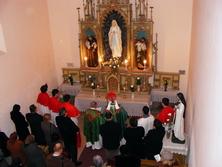 Segen einer Marien-Statue in Beregszasz