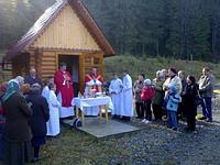 La messe dans les Carpathes
