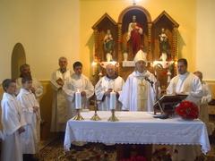 Búcsú a benei templomban