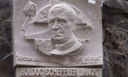 Scheffler János-dombormű megáldása Ungváron
