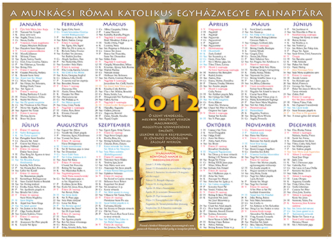 katolikus naptar 2014