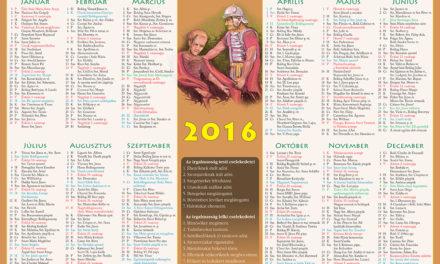 katolikus naptar 2016