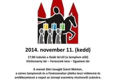 2014. november 11. Szent Márton-menet Budapesten a Traditio Cristiana szervezésében