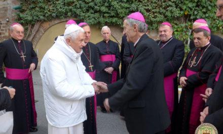 Az ukrajnai püspökök találkoztak XVI. Benedek emeritus pápval