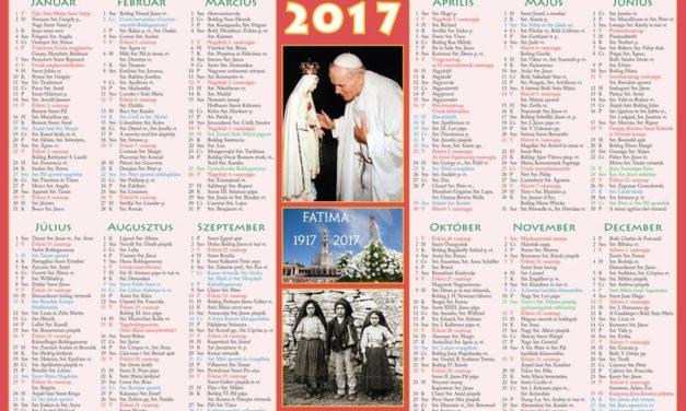 katolikus naptar 2017