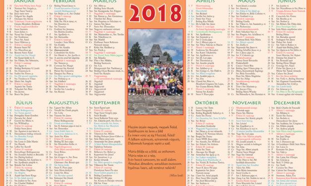 katolikus naptar 2018
