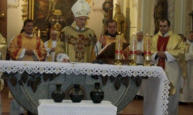 Olajszentelési szentmise Munkácson