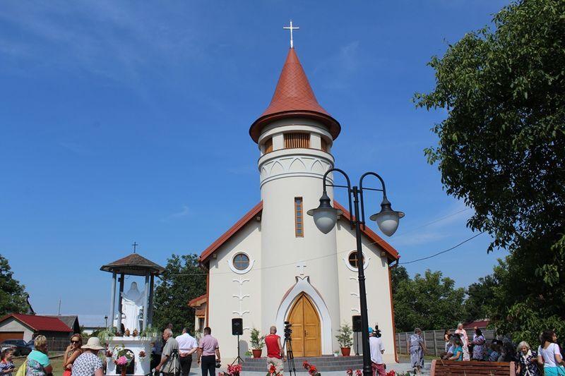 A Szent Kinga-templom felszentelése Beregardóban