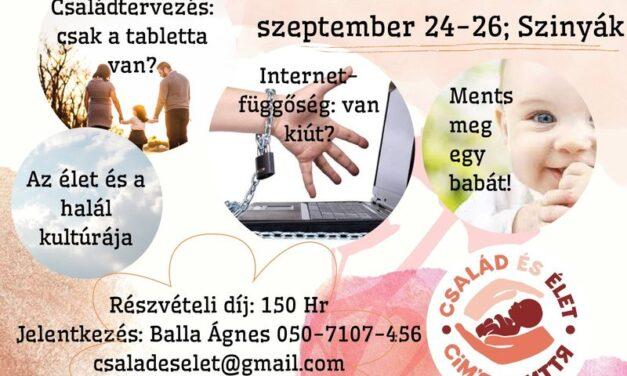 """""""Élet kérdések"""" információs hétvége"""