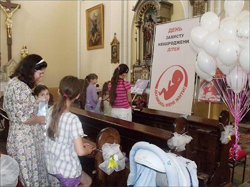 Mолебень за ненароджених дітей