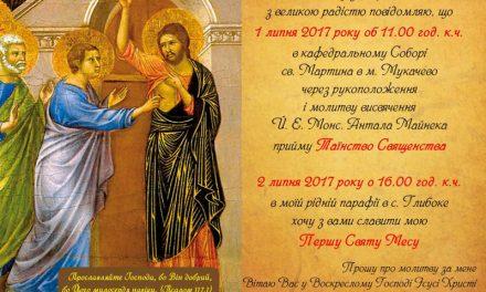 Священицькі свячення у кафедральному соборі св. Мартина