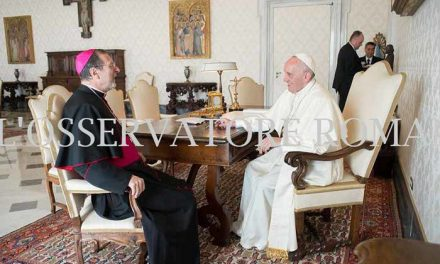 Папа Римський прийняв на Аудієнції Апостольського Нунція