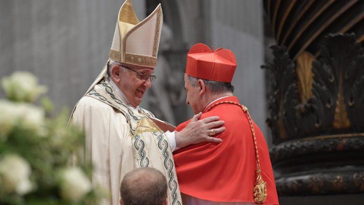 Папа кардиналам: Найвища гідність – служити Христові в особі ближнього