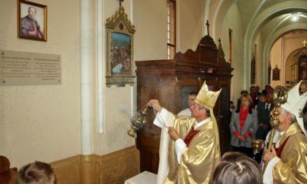 Посвячення меморіалу та зображення Блаженного владики мученика Яноша Шефлера