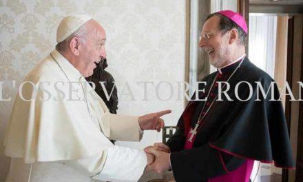 Папа Франциск прийняв на приватній Аудієнції Апостольського Нунція