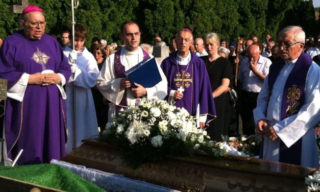 Звернення єпископа-ординарія Антала Майнека під час похорону о. Йосипа Мрквіци