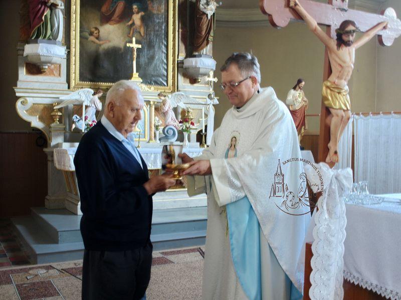 Нагородження пана Євгена Літчауера пам'ятною медаллю Плащ Святого Мартина